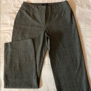Black plaid trousers